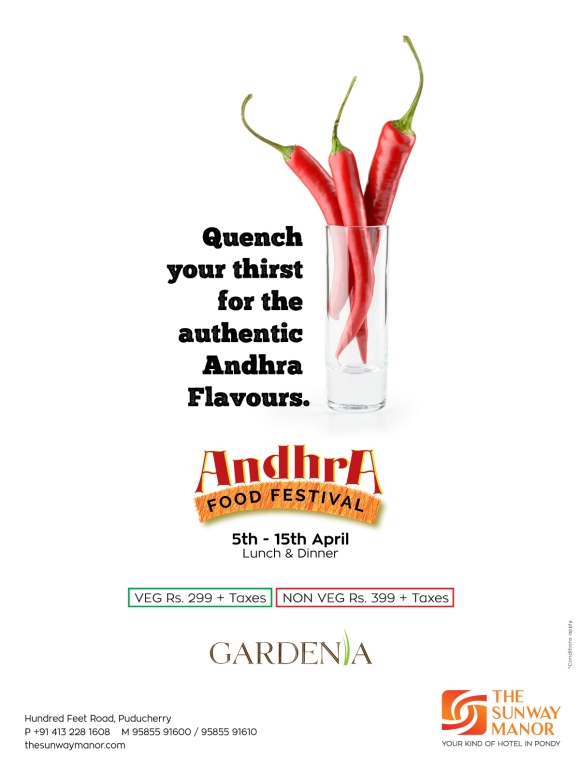 Andhra food festival FB post