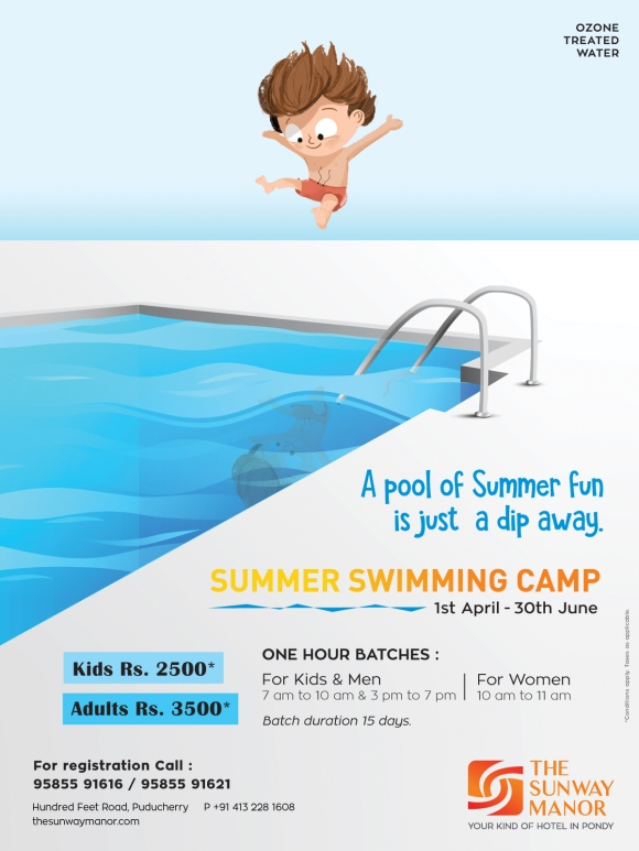 Swimming camp FB post